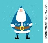 santa claus  blue   flat art ... | Shutterstock .eps vector #518759254