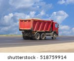 big dump truck goes on highway