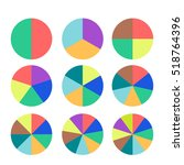 set of colored pie charts.... | Shutterstock .eps vector #518764396