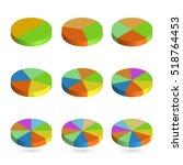 set of bulk isometric pie... | Shutterstock .eps vector #518764453