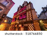 old architecture in rennes.... | Shutterstock . vector #518766850