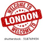 welcome to london. stamp. | Shutterstock .eps vector #518769454