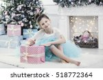 preteen child girl in ... | Shutterstock . vector #518772364