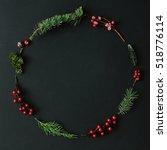 Christmas Round Frame Made Of...