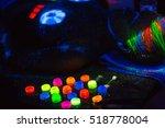 Multicolored Uv Powder In...