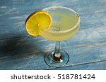 classic margarita cocktail with ... | Shutterstock . vector #518781424
