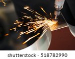 drill with diamond tipped... | Shutterstock . vector #518782990