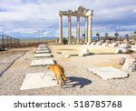 apollo temple in side town.... | Shutterstock . vector #518785768