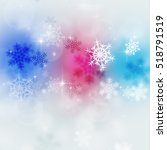 abstract mutlicolor xmas bright ... | Shutterstock . vector #518791519