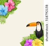 illustration nature tropical... | Shutterstock .eps vector #518792158