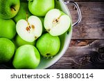 Organic Green Juicy Apples In...