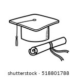 a hand drawn vector doodle... | Shutterstock .eps vector #518801788