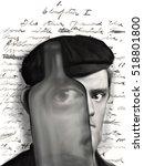 caricature of american novelist ...   Shutterstock . vector #518801800