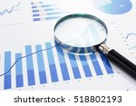 looking at growth chart with... | Shutterstock . vector #518802193