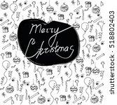 merry christmas  modern... | Shutterstock .eps vector #518802403