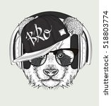 the image of the panda in the...   Shutterstock .eps vector #518803774