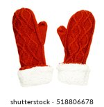 Mittens Isolated On White...
