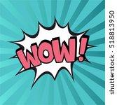 pop art comic bubbles design.... | Shutterstock .eps vector #518813950