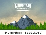 landscape with mountain peaks... | Shutterstock .eps vector #518816050
