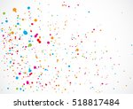 colorful confetti isolated on... | Shutterstock .eps vector #518817484