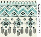 vector tribal ethnic seamless... | Shutterstock .eps vector #518817874