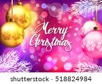 christmas. background with... | Shutterstock .eps vector #518824984
