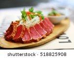 close up of tuna tataki salad.... | Shutterstock . vector #518825908
