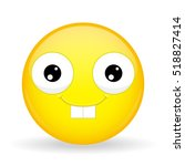nerd emoji. happy emotion.... | Shutterstock .eps vector #518827414