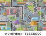 seamless pattern of the urban... | Shutterstock .eps vector #518830300