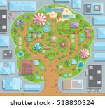 vector illustration. amusement... | Shutterstock .eps vector #518830324