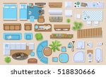 icons set of interior  top view ... | Shutterstock .eps vector #518830666