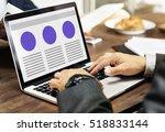 web design template copy space... | Shutterstock . vector #518833144