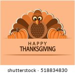 happy thanksgiving greeting... | Shutterstock .eps vector #518834830