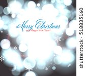 vector glittery lights silver... | Shutterstock .eps vector #518835160