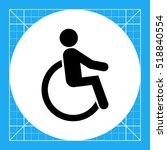disabled person icon | Shutterstock .eps vector #518840554