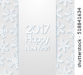 new year greeting card. vector... | Shutterstock .eps vector #518841634