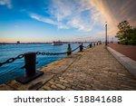 The Harborwalk At Sunset  In...