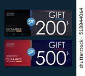 gift voucher template ...   Shutterstock .eps vector #518844064