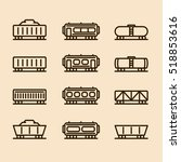 cargo wagon train container...   Shutterstock .eps vector #518853616