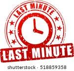 illustration of last minute... | Shutterstock .eps vector #518859358