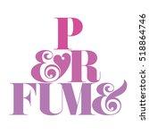 perfume pyramid typography.... | Shutterstock .eps vector #518864746