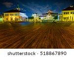 Wooden Pier At Night In Sopot ...