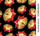 vector christmas seamless... | Shutterstock .eps vector #518868664