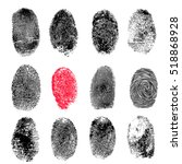 Fingerprints Set Isolated On...