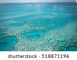 great barrier reef from above ... | Shutterstock . vector #518871196