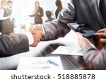 handshake of business partners... | Shutterstock . vector #518885878