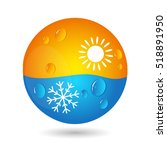air conditioning concept for... | Shutterstock .eps vector #518891950