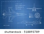 drawing military aircraft. top  ... | Shutterstock .eps vector #518893789