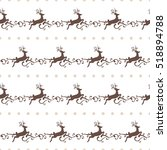 christmas seamless pattern with ... | Shutterstock .eps vector #518894788