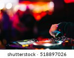 Stock photo music background dj night club deejay record player retro 518897026